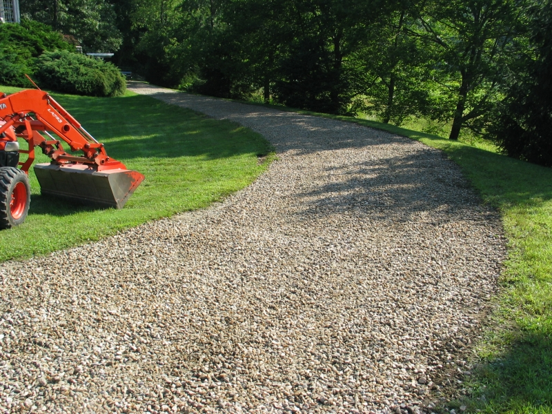 Gravel driveways make a statement